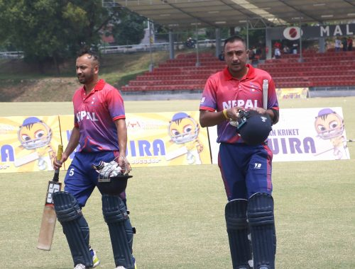 Sharad Vesawkar (left) and Paras Khadka